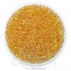 ลูกปัดเม็ดทราย 8/0 โทนรุ้ง สีทอง (100 กรัม)
