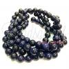 หิน ทรายเงิน (bluesand Stone) 8มิล (47 เม็ด)