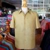 เสื้อสูทไหมผสมฝ้าย สีเขียวทอง ไซส์ XL