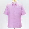 เสื้อสูทไหมผสมฝ้าย สีม่วงอ่อน ไซส์ XL