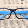 แว่นตาแฟชั่นเกาหลี สีดำฟ้า (ไม่มีเลนส์)