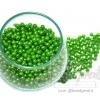 ลูกปัดมุกพลาสติก 4มิล สีเขียวเข้ม (120 กรัม)