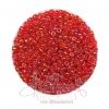 ลูกปัดเม็ดทราย 8/0 โทนรุ้ง สีแดง (100 กรัม)