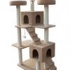 MU0076 คอนโดแมวหกชั้น ขนาดใหญ่ ต้นไม้แมว มีบ้านอุโมงค์ กระบะนอน เปลนอน บันได สูง 178 cm