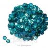 เลื่อมจานดิสโก้ 8มิล สีฟ้า (15 กรัม)