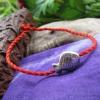 สร้อยข้อเท้า เชือกสตริงสีแดงปลาเงิน One ย้อนยุค