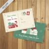 โปสการ์ด Postcard สไตล์การออกแบบดีไซน์แบบแนววินเทจดูคลาสิกมากยิ่งขึ้นเหมาะกับโปสการ์ดวันคริสมาส โปสการ์ด ไว้สำหรับ ส่งบทความถึงคนสำคัญ // ตัวอย่างดีไซน์ โปสการ์ด Postcard พิมพ์โปสการ์ด โปสการ์ดสวยๆ Chill Shop Package