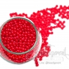 ลูกปัดมุกพลาสติก 4มิล สีแดง (450 กรัม)