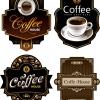 ฉลากอาหาร ของกิน สไตล์การออกแบบดีไซน์แบบใช้สีโทนดำทำให้ดูเข้มดุ ฉลากไว้ใช้แปะกับแพคเกจกล่องกาแฟ,แก้วกาแฟ // ตัวอย่างดีไซน์ สติ๊กเกอร์ฉลาก Chill Shop Package