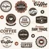 ฉลากอาหาร ของกิน สไตล์การออกแบบดีไซน์แบบใช้สีโทนดำ ทำให้ดูเข้มดุ ฉลากไว้ใช้แปะกับแพคเกจกล่องกาแฟ,แก้วกาแฟ // ตัวอย่างดีไซน์ สติ๊กเกอร์ฉลาก Chill Shop Package