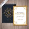 การ์ดแต่งงาน Wedding card สไตล์การออกแบบดีไซน์แบบโทนสีครามเข้มและตัดด้วยสีขาวแต่งขอบด้วยสีทองเส้นบางเพิ่มความสวยงาม การ์ดงานแต่ง ไว้สำหรับ เรียนเชิญแขกผู้มีเกียรติเข้ามาร่วมงานแต่งงาน // ตัวอย่างดีไซน์ การ์ดแต่งงาน การ์ดเชิญ การ์ดสวยๆ