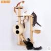 MU0008 คอนโดแมวสี่ชั้น ต้นไม้แมว ขนาดกลาง cat tree มีอุโมงค์ให้ซ่อนหาและงีบพักผ่อน สูง 151 cm