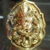 แหวนพระพิฆเนศ พิมพ์ใหญ่ รุ่น มั่งมีศรีสุข หลวงปู่หงษ์ วัดเพชรบุรี ปี 2548 เนื้อทองดอกบวบ