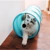 อุโมงค์แมว อุโมงค์ผ้าโพลีเอสเตอร์ มีของเล่นแขวน เป็นทั้งของเล่นและที่นอนพัก