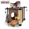 MU0103 บล็อคแมว ของเล่นแมว ที่ลับเล็บแมว มีของเล่นห้อย SportPet KittyCity สูง 45.1 cm