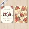 การ์ดแต่งงาน Wedding card สไตล์การออกแบบดีไซน์แบบตกแต่งด้วยดอกไม้หลากสีสร้างความดึงดูดน่าสนใจ การ์ดงานแต่ง ไว้สำหรับ เรียนเชิญแขกผู้มีเกียรติเข้ามาร่วมงานแต่งงาน // ตัวอย่างดีไซน์ การ์ดแต่งงาน การ์ดเชิญ การ์ดสวยๆ