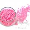 ลูกปัดมุกพลาสติก 4มิล สีชมพู (120 กรัม)