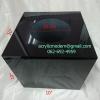 กล่องจับรางวัลสีดำโปร่ง ขนาด 10x10x10 นิ้ว