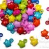 จี้อะคริลิค 18มม. ลายดาวอ้วน คละสีสด (135 กรัม )