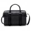 กระเป๋าแบรนด์ ZARA STRUCTURED BOWLING BAG WITH POCKET AND STUDS สีดำ