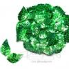 เลื่อมใบไม้ดิสโก้ 13*25มม. สีเขียวเข้ม (500 กรัม)