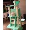 MU0086 คอนโดแมวห้าชั้น ต้นไม้แมว บ้านอุโมงค์ เปลนอน กระบะนอน บันไดฝนเล็บ สูง 150 cm