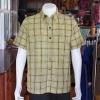 เสื้อเชิ้ตผ้าฝ้ายทอลายสก็อต ไม่อัดผ้ากาว ไซส์ M