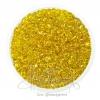 ลูกปัดเม็ดทราย 6/0 โทนรุ้ง สีเหลือง (100 กรัม)