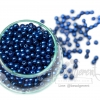 ลูกปัดมุกพลาสติก 5มิล สีน้ำเงิน (15 กรัม)