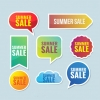 ฉลากป้ายแจ้งประกาศเตือน สไตล์การออกแบบดีไซน์แบบใช้สีสันที่สดุดตาสวยงาม ฉลากไว้ใช้แปะกับสินค้าที่ลดราคา // ตัวอย่างดีไซน์ สติ๊กเกอร์ฉลาก Chill Shop Package
