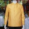 เสื้อสูทไหมแพรทองคอพระราชทานแขนยาว สีทอง ไซส์ XL