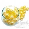 ลูกปัดมุกพลาสติก 16มิล สีเหลืองนวล (120 กรัม)
