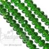 คริสตัลโมดาห์ 8มม. ทรงซาลาเปา สีเขียวเข้ม (72 เม็ด)