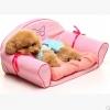 โซฟาเท็ดดี้หมาน้อย ที่นอนสัตว์เลี้ยงขนาดเล็ก สีชมพู สูง 63 cm