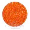 ลูกปัดเม็ดทราย 8/0 โทนรุ้ง สีส้ม (100 กรัม)