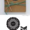 ไอเดียสำหรับการพิมพ์ สติ๊กเกอร์ฉลากสินค้า // สไตล์การออกแบบ ดีไซน์เรียบๆ หรูๆ ฉลากใช้สำหรับ แปะกับซองกระดาษ