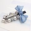 กิ๊ฟติดผม เกาหลี Zircon diamond pearl hairpin [ฟ้าอ่อน]