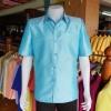 เสื้อสูทไหมแพรทอง สีฟ้า ไซส์ M