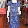 เดรสผ้าฝ้ายสุโขทัยทอลายดอกหวาย ไซส์ XL