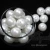 ลูกปัดมุกพลาสติก 16มิล สีขาว (120 กรัม)