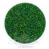 ลูกปัดเม็ดทราย 12/0 โทนรุ้ง สีเขียวเข้ม (100 กรัม)