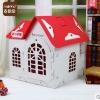 Baby Home บ้านสัตว์เลี้ยงพลาสติก บ้านตุ๊กตาสำหรับฤดูหนาวปลอดสารพิษ สูง 59 cm