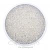ลูกปัดเม็ดทราย 12/0 โทนรุ้ง สีขาว (100 กรัม)