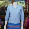เสื้อผ้าฝ้ายสุโขทัย แต่งเดินไหม สีฟ้า ไซส์ XL