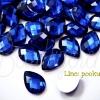 เพชรครึ่งซีก 10*14มม. ลายหยดน้ำ สีน้ำเงิน (20 ชิ้น)