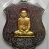 รุ่น กายสิทธิ์หมื่นยันต์ หลวงพ่อพริ้ง วัดซับชมพู่ จ.เพชรบูรณ์ ปี 2560 เนื้อทองแดงรมดำหน้ากากทองระฆัง
