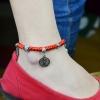 สร้อยข้อเท้า Hand-woven red string band Natal