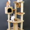 MU0005 คอนโดแมวห้าชั้น ต้นไม้แมว Classic & Deluxe Multifunction cat tree สูง 120 cm