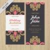 การ์ดแต่งงาน Wedding card สไตล์การออกแบบดีไซน์โทนสีดำและตกแต่งลวดลายด้วยสีชมพูทำให้ดูหวานๆแต่เข้มดุ การ์ดงานแต่ง ไว้สำหรับ เรียนเชิญแขกผู้มีเกียรติเข้ามาร่วมงานแต่งงาน // ตัวอย่างดีไซน์ การ์ดแต่งงาน การ์ดเชิญ การ์ดสวยๆ