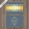 การ์ดแต่งงาน Wedding card สไตล์การออกแบบดีไซน์แบบโทนสียีนส์และตกแต่งลวดลายด้วยสีทองทำให้ดูหรูหรามีราคา การ์ดงานแต่ง ไว้สำหรับ เรียนเชิญแขกผู้มีเกียรติเข้ามาร่วมงานแต่งงาน // ตัวอย่างดีไซน์ การ์ดแต่งงาน การ์ดเชิญ การ์ดสวยๆ